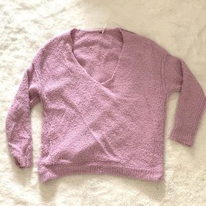 Free People Oversized Sweater - Lilac